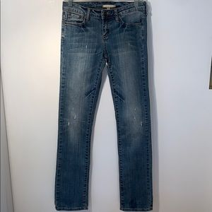 HERITAGE 1981 BLUE SLIGHTLY DISTRESSED JEANS